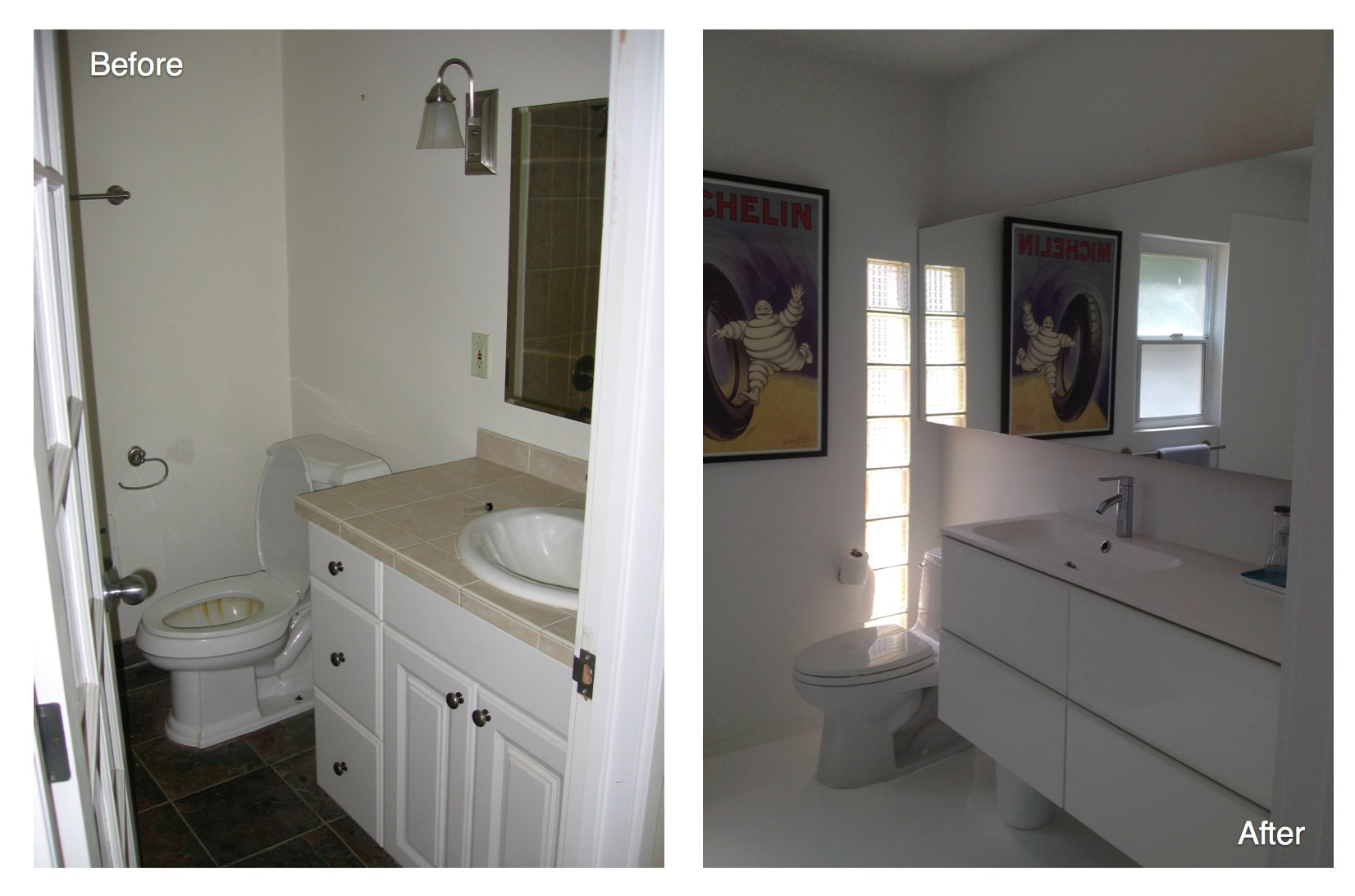 Ikea Bathroom Before After how to spend less than $75,000 and completely change your home