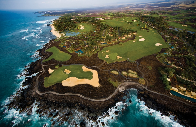 Hualalai Golf Aerial